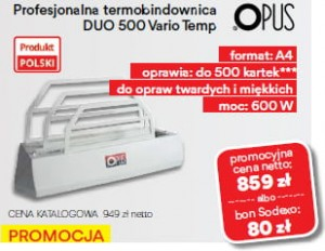 Termobindownica Opus Duo 500 Vario Temp